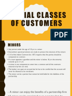 Special Classes of Customers