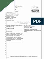 Baker v Tezos 8/3/18 Opposition Coordination