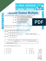 Ficha Minimo Comun Multiplo Para Cuarto de Primaria