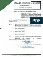 Decreto 9105-22.12.2017 de Taxas de Licença Barretos Sp