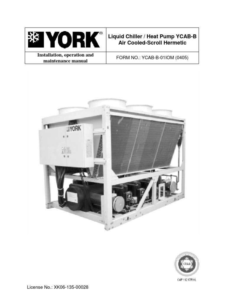 ycab man air conditioning power supply rh scribd com York Chiller Literature York Absorption Chiller Service Manual