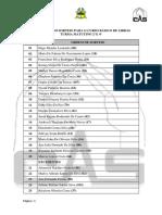 Resultado Do Sorteio Para o Curso Básico de Libras 2018.2