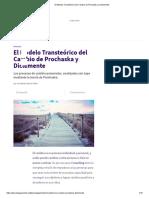 _El Modelo Transteórico Del Cambio de Prochaska y Diclemente
