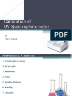 Calibration of UV Spectrophotometer