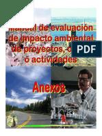 Manual Para La Evaluación de Impacto Ambiental de Proyectos, Obras o Actividades Anexos