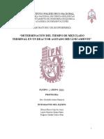 Practica 4 - Determinación Del Tiempo de Mezclado Terminal en Un Reactor Agitado Mecánicamente (Ram)