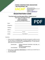 Registration Form AMO Seminar August 18 & 19, 2017