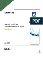 Deloitte Propuesta Técnica - Transformación Compras