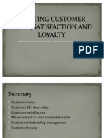 Creating Customer Value,Satisfaction and Loyalty