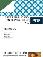 Arte Republicano en El Perú Siglo Xix