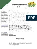 choc summer 2018 newsletter