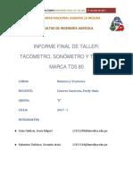 INFORME FINAL DE TALLER