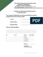 Formulir Kesediaan Menjadi Promotor