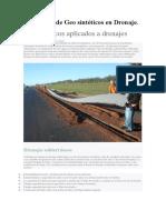 Geosintéticos Aplicados a Drenajes