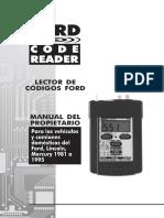 Manual Lector de Códigos Ford