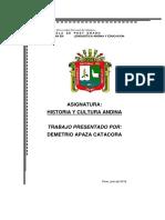Trabajo Sobre Resistencia y Persistencia de La Cultura Andina