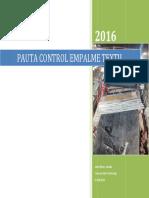 Plan de Inspección de Ejecución de Empalme Correa Con Carcasa Textil