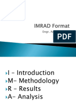 IMRAD Format With Discussion