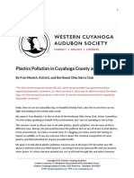 Plastics Pollution in Cuyahoga County and Ohio by Fran Mentch, NEO Sierra Club