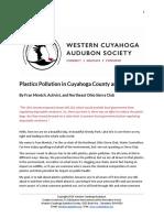 Plastics Pollution in Cuyahoga County and Ohio by Fran Mentch, NEO Sierra Club
