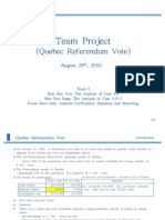 Team Project on Qubec Referendum Vote
