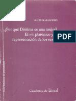 Halperin, David - Por qué Diótima es una mujer. El eros platónico y la representación de los sexo.pdf