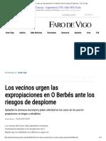 Los Vecinos Urgen Las Expropiaciones en O Berbés Ante Los Riesgos de Desplome - Faro de Vigo