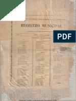 Registro Municipal 1899