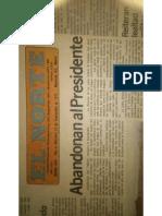 Abandonan Presidente Muerte Allende