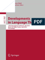 (Lecture Notes in Computer Science 7907) Rūsiņš Freivalds (Auth.), Marie-Pierre Béal, Olivier Carton (Eds.)-Developments in Language Theory_ 17th International Conference, DLT 2013, Marne-la-Vallée, F