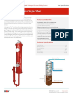 Mud-Gas Separator Tool Specification