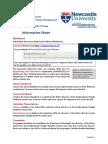 Msc Induction Info Sheet 1617