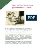 Historia y Origen de La Terapia Ocupacional (1)