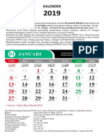 Kalender 2019 Lembaga Falakiyah PWNU Jatim