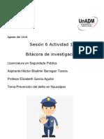 Sesión 6 Actividad 1. Bitácora de Investigación