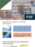 Analisis microbiologico de agua.