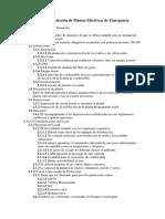 Reglamento de Instalación de Plantas Eléctricas de Emergencia
