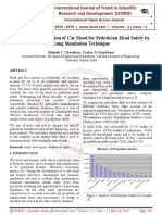 Study and Optimization of Car Hood for Pedestrian Head Safety by Using Simulation Technique