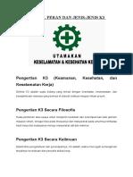 Tujuan, Peran Dan Jenis k3 Mekanik