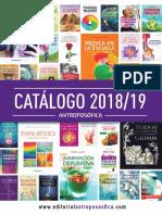 Catalogo Antroposofica 2018 -19