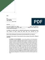 Demand Letter - Blank