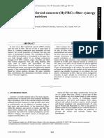 hybrid fibre reinforced concrete:fiber synergy in high strength matrices N.