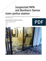 Attack in Northern Samar Reference