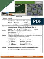 Python Worksheet 1
