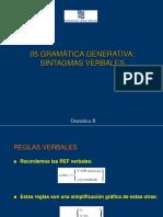 Gramatica Generativa - Sintagmas verbales