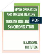 Turbine Rolling and Synchronization