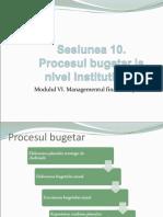 7. Procesul Bugetar La Nivel Institutie