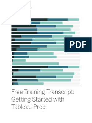 Getting Started With Tableau Prep   Microsoft Excel   Data