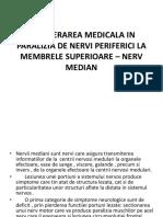 Recuperarea Medicala in Paralizia de Nervi Periferici