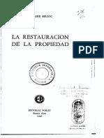 La Restauración de la Propiedad - Hilaire Belloc